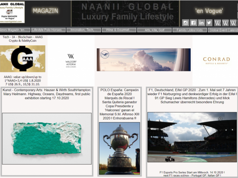 Naanii Global Quality/Luxury Family Lifestyle -Magazin 'en Vogue'- Crypto AAAG (nAAAGlobal) accepted for all Consultancy + Marketing Services + Boutique Online (Gifts/Events/Experiences/fotoARTs)