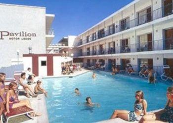 Hotel Barnegat Township, 801 Atlantic Ave. Beach Block of 8th Street, Pavilion Motor Lodge