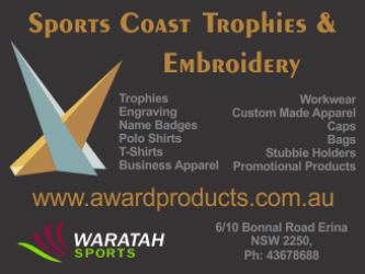 Sportscoast Trophies & Embroidery Various