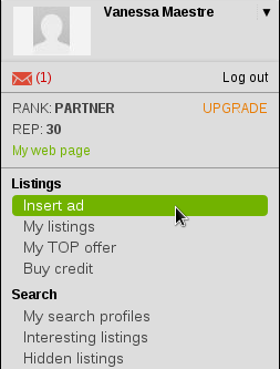 How to place a listing?